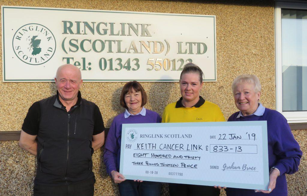 Ringlink Scotland Donation